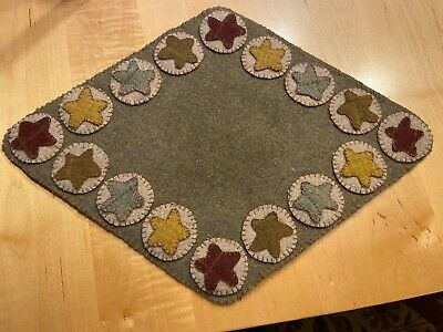 PRIMITIVE STAR PENNY RUG 13 X 18 by JANICE SONNEN