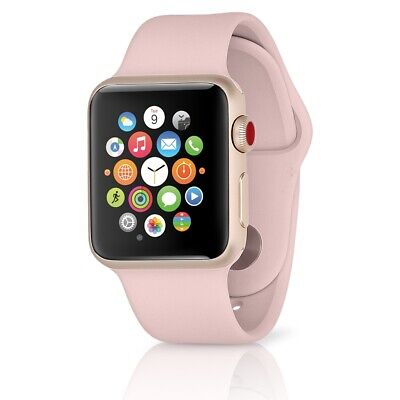 Apple Watch Series 3 GPS-LTE w 38MM Gold Aluminum Case - Pink Sand Band