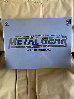 PlayStation 1 Metal Gera Solid Limited Edition Premium Package Neu Sealed Selten