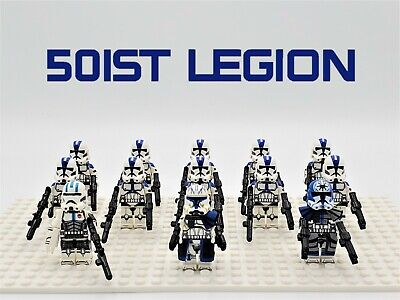 Star Wars 501st Legion Captain Rex 13pcs Lot Custom Set - USA SELLER