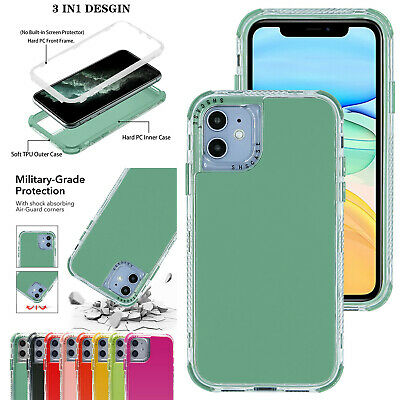 For iPhone 11 12 Pro Max XS XR 7 8 SE Shockproof Hybrid Clear Hard Case Cover