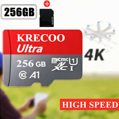 64GB128GB256GB Micro Memory SD Card 325MBS Fast TF Card Class10 with Adapter