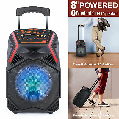 8 Tailgate Party Speaker Sound System Bluetooth Led Portable Stereo Light Up