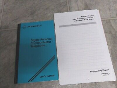 Users - Programming Manual  for Motorola Digital Personal Communicator
