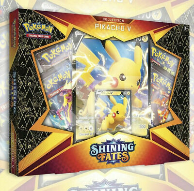 NEW POKEMON TCG SHINING FATES PIKACHU V BOX  4 Booster Packs SEALED