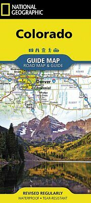 National Geographic CO Colorado Road  Travel  Waterproof Guide Map