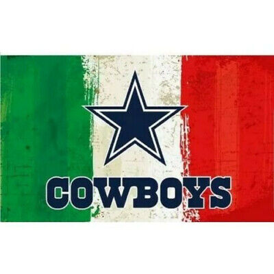 Dallas Cowboys Mexico Mexican Flag Banner New 3x5 Ft NFL Football