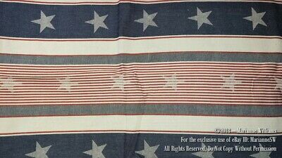 NEW RED WHITE BLUE STAR - STRIPE TABLECLOTH 52 x 70 PATRIOTIC 4th FOURTH of JULY