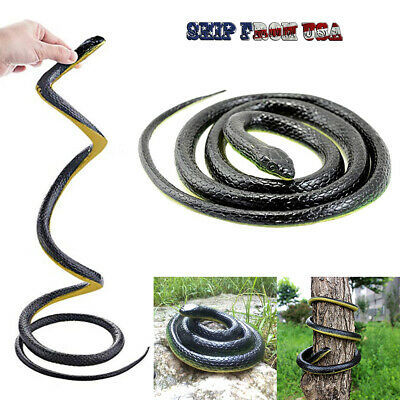49 Realistic Rubber Fake Snake Halloween Horror Scary Props House Party Trick