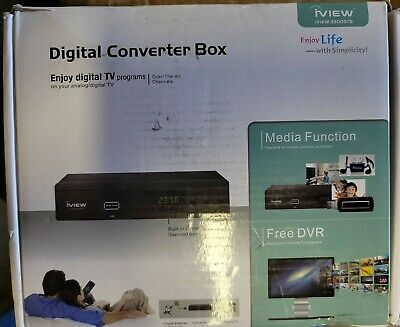 iView 3300STB Converter Box with Recording Media Player Built-in Digital Clock