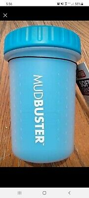 Dexas MudBuster Portable Dog Paw Washer and Paw Cleaner Blue Medium NWOT