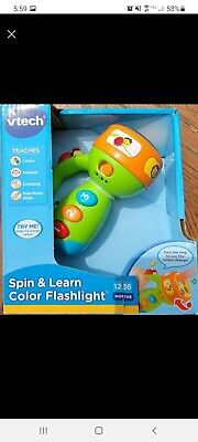 VTech Spin and Learn Color Flashlight Enhanced Flashlight Learning Toy