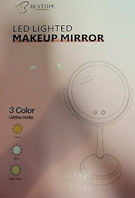 BESTOPE 8-5 Lighted Makeup Mirror with Lights 1X7X Magnifying Vanity Mirro-