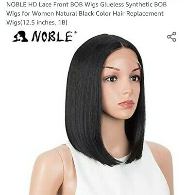 NOBLE HD Lace Front BOB Wigs Glueless Synthetic BOB Wigs for Women Natural Black