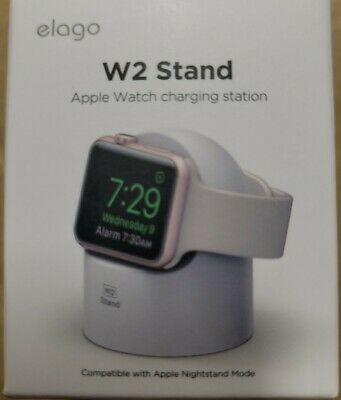 Apple Watch Stand Series 4 3 2 1 Scratch-Free Silicone Nightstand Mode White