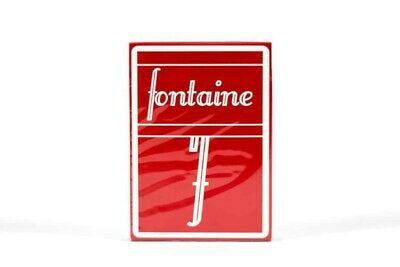 RARE FONTAINE Cranberry playing cards limited edition- New and sealed-