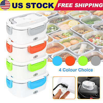 12V Car Electric Lunch Box Food Heater Bento Warmer Travel Heating Container