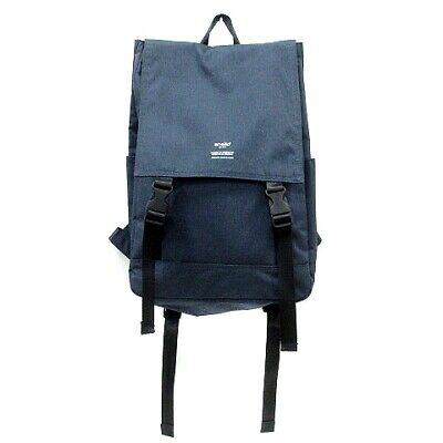 ANELLO Bag Backpack Day Pack Nylon Canvas Navy Blue Mn Womens Free Shipping