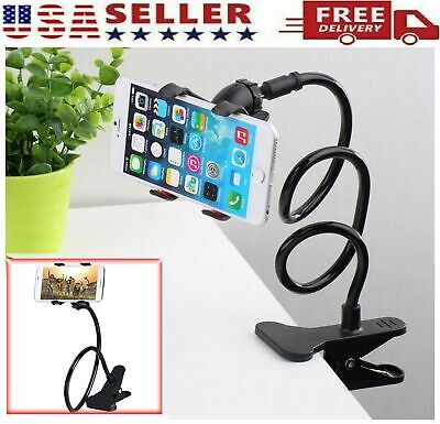 Clamp Bed Desk Lazy Stand Long Arm Cell Phone GPS Flexible Mobile Phone Holder