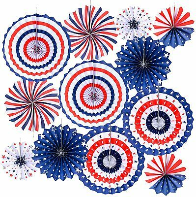Fourth of July Party Decorations 4th of July Paper Fans Memorial Day Decorations