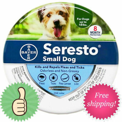 New For Small Dogs Up to 18lbs Bayer Seresto Flea and Tick Collar