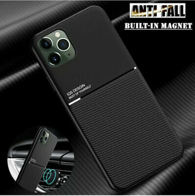 Matte Shockproof Case For iPhone 11 12 Pro Max Mini X XS 7 8 Plus Cover Magnet