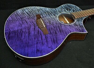 IBANEZ AEWC32FM-PSF 6 STRING EXOTIC Acoustic-Electric FLAME TOP Fishman Pickup