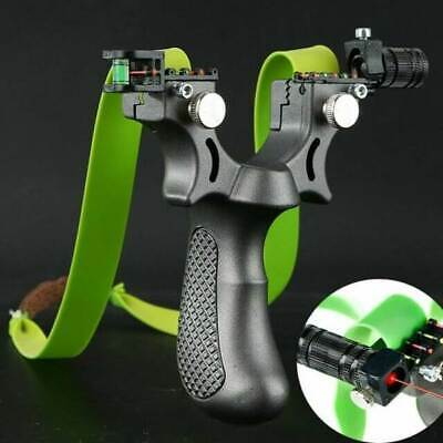 Professional Hunting Catapult Power Laser Slingshot With Rubber Aim Point Target