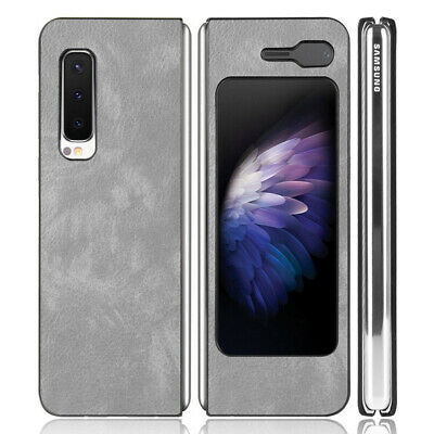 For Samsung Galaxy Fold 1st Generation Shockproof Hybrid PU Leather Case Cover