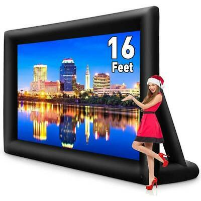 16FT Inflatable Movie Projector Screen Projection Outdoor Home Theater w-Blower