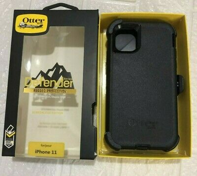 New Otterbox Defender Series Case Cover for Apple iPhone 11 with Holster Black