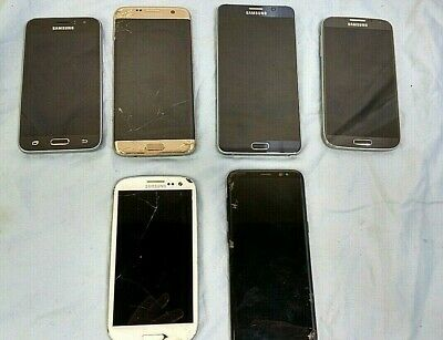 6 Samsung Phones Including Galaxy Note5 Galaxy S8 - More- Pre-Owned- Untested