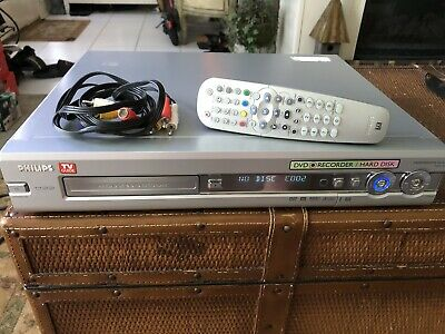Philips DVD Recorder HDRW720P 120 GB DVR Hard Drive  w Remote Power Cable