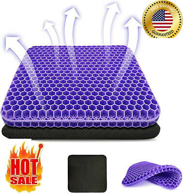 Double Thick Gel Seat Cushion Egg Seat Cushion Non-Slip Cover Breathable Design