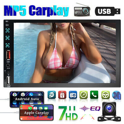 7 Car AppleAndriod Carplay Double 2Din Touch Screen Stereo Bluetooth Radio-Cam