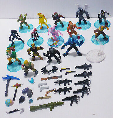 Lot of Fortnite Battle Royale Collection 15 2 Figures 12 Stands 29 Accessories