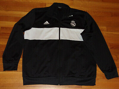 ADIDAS REAL MADRID FULL ZIP ATHLETIC SOCCER JACKET MENS 2XL EXCELLENT CONDITION