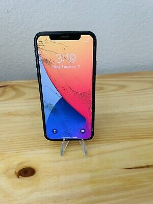 iphone x unlocked 64gb Cracked Screen Front - Back