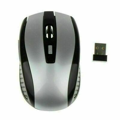 2-4Ghz Wireless Optical Gaming Mouse Mice-USB Receiver For PC Laptop Grey