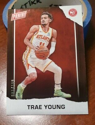 2021 PANINI FATHERS DAY HOLO SP TRAE YOUNG HAWKS 199 RARE 🔥