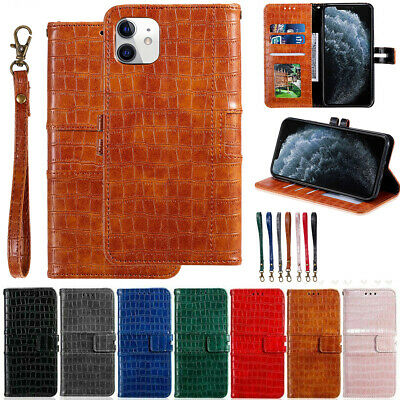 Crocodile Leather Wallet Flip Stand Case For iPhone 13 12 Pro Max 11 XS XR 8 7 X