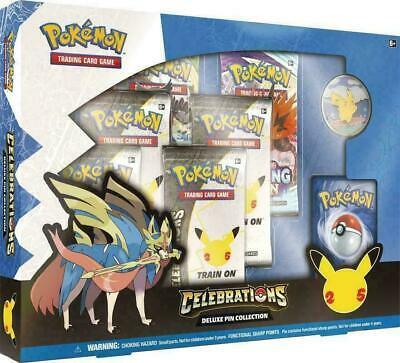 Pokemon Celebrations Deluxe Pin Collection Factory Sealed Box