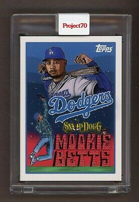 2021 Topps Project 70 Mookie Betts - Snoop Dogg 89 - Los Angeles Dodgers