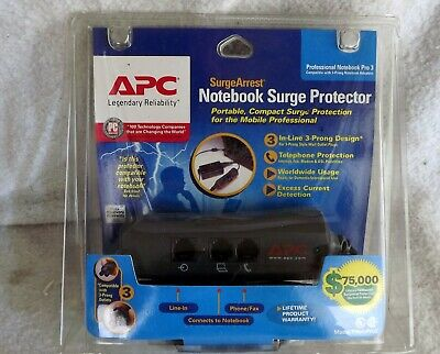 apc notebook surge protector new