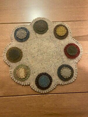 PRIMITIVE PENNY RUG 8-50 ROUND by JANICE SONNEN