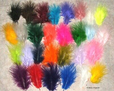 Marabou Feathers Fluffy 7 grams 1-3  29 colors available Approx 105 per bag