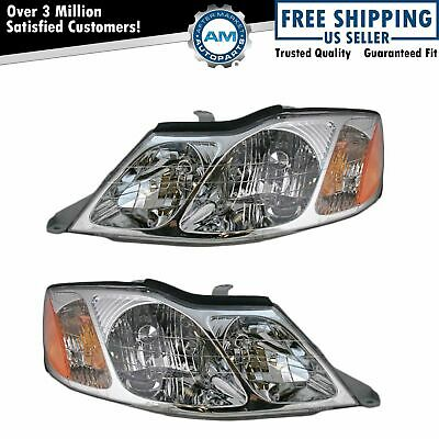 Headlights Headlamps Left - Right Pair Set NEW for 00-04 Toyota Avalon