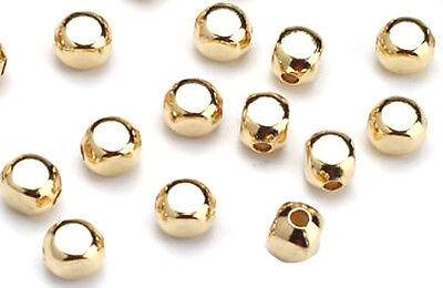 100 Gold Plated Roundish Square Spacer  Beads 4MM