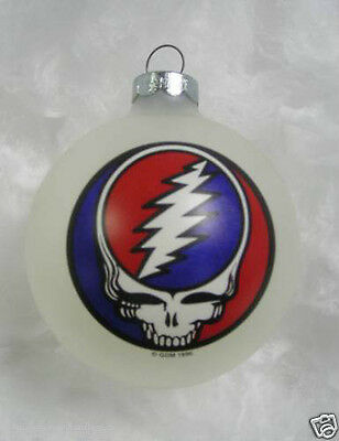 GRATEFUL DEAD STEAL YOUR FACE  LIMITED EDITION ORNAMENT 1996 white new