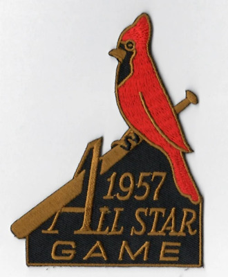 1957 MLB All Star Game St Louis Cardinals Jersey Sleeve Patch Baseball